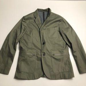 Under Armour Mens Blazer Green Gray Large